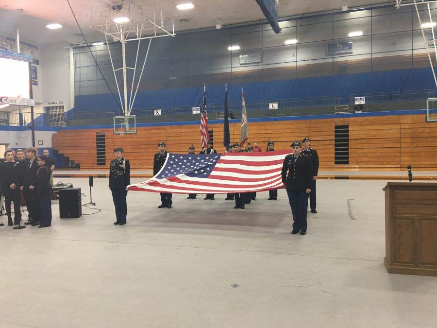 GCHS JROTC leads Veterans' Day ceremonies around community