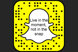 Live in the moment, not in the snap