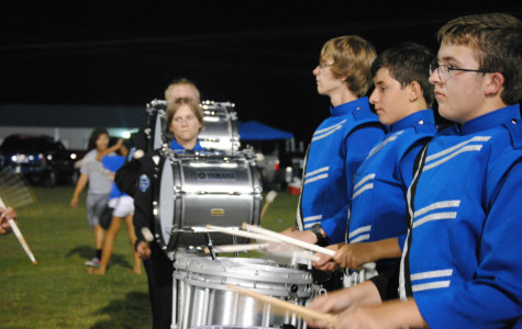 Drum line takes the show