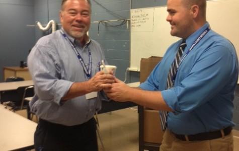 Teachers receive sweet treats for attendance