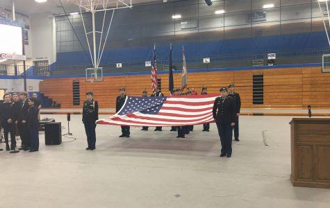 GCHS JROTC leads Veterans' Day ceremonies around community