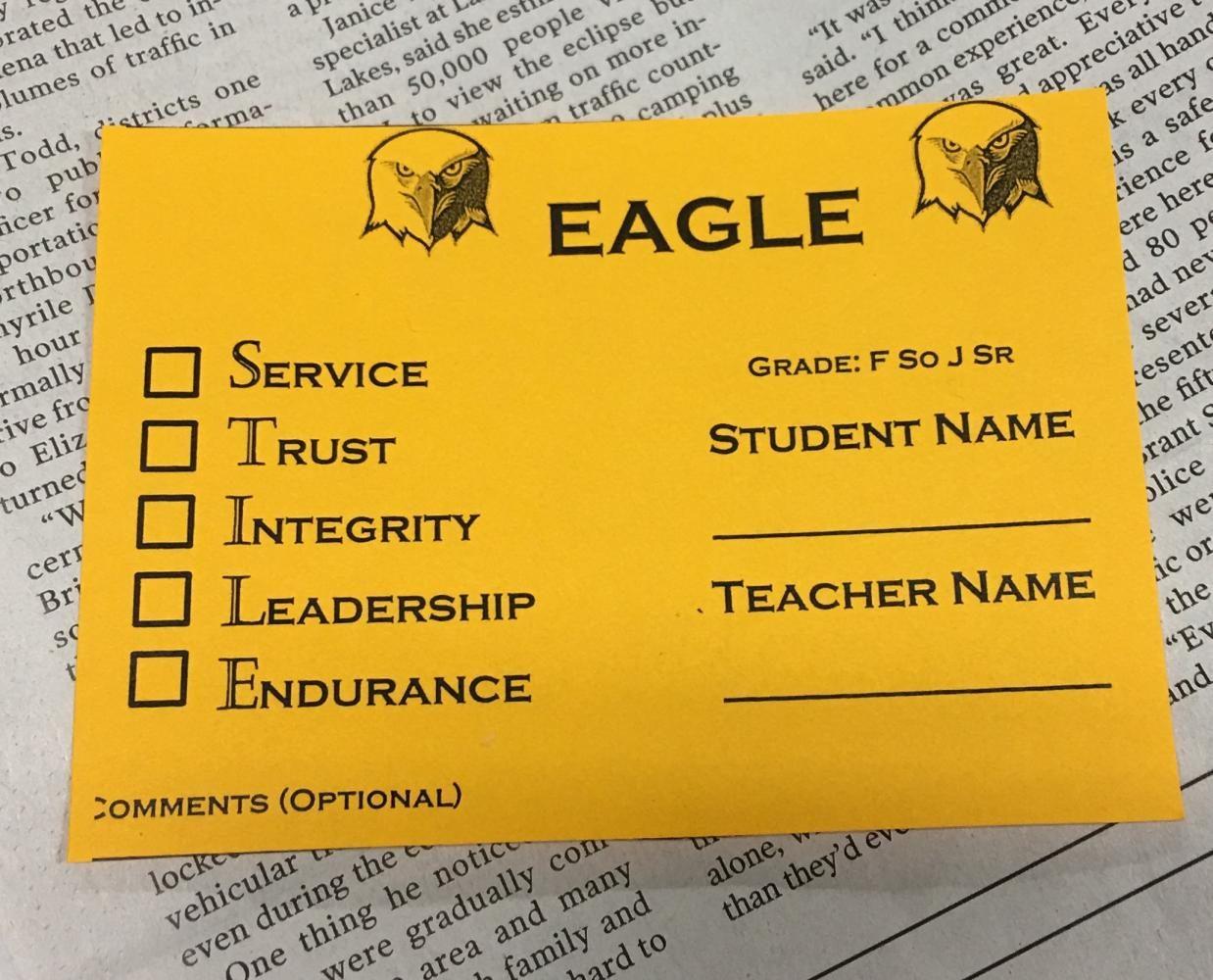 GCHS STILE cards result in increase of positive student behavior