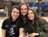 . Audrey Dowdy, Isabella Miller, and Emily Oliver, are all on the volleyball team and smiling for next years upcoming season. They will all be sophomores next year.