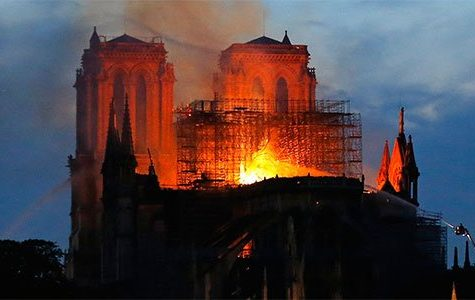 Notre Dame de Paris Cathedral burns down from suspected electrical fire