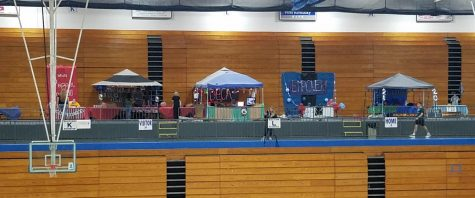 Vibrant club tents spruce up the gym during GCHS Rush Week.