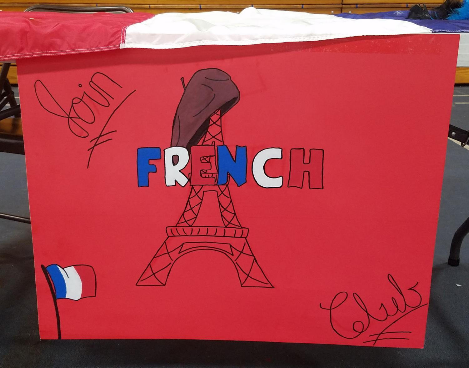 French club's poster for Rush Week.