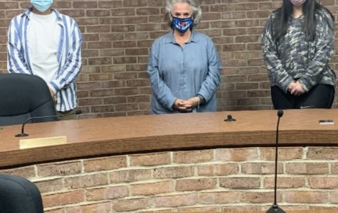 Eagle's Eye Staff Members with Mayfield Mayor Kathy O'Nan