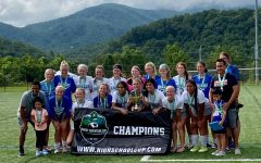 GCHS Lady Eagles Soccer team after their final tournament win.