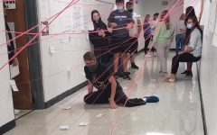 Mrs. Roberts class reviews amendments through a mission impossible-style challenge.