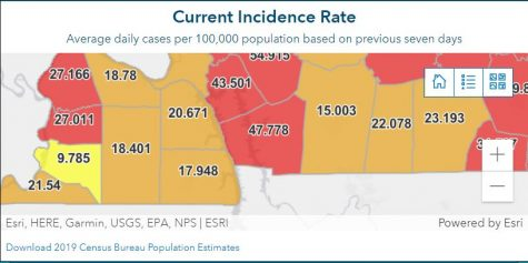 Incidence Map as of 10/20/21 1:56 pm.